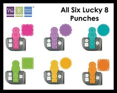 We R Memory Keepers Lucky 8 Punch All 6 -  Learn From Videos Here