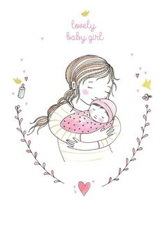 Marieke ten Berge 'Kaart Lovely Baby Girl'