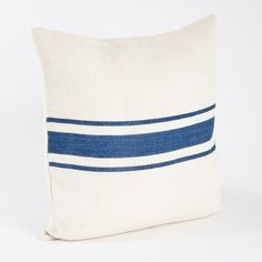 Les Baux de Provence Striped Design Jute Pillow