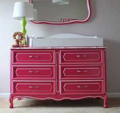 gorgeous refinish for my dresser-- would work w/ any rich color 15 Eye-Catching Dresser DIYs