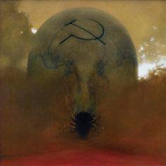 Zdzisław Beksiński - Untitled (oil), 1981
