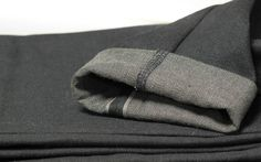 Selvedge jeans narrowed by serger
