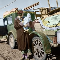 Dorothea Lange colorized