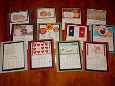 2015 CD Calendar by hjordan - Cards and Paper Crafts at Splitcoaststampers Scrapbook Paper Crafts, Scrapbook Cards, Paper Crafting, Scrapbooking, Diy Calendar, Desk Calendars, Perpetual Birthday Calendar, Craft Show Ideas, Fancy Fold Cards