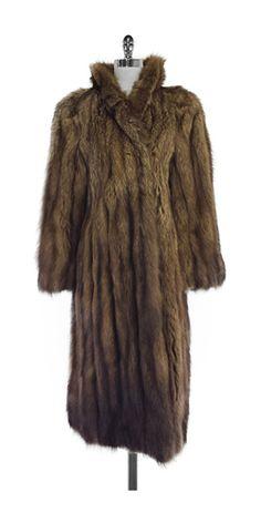 Canton Lausanne Brown Tone Fur Coat