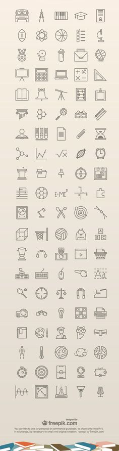 100 Free Education #Icons:
