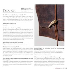 Tribeza | August 2014 Makers Issue Special thanks to Paula Disbrowe