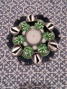Teelicht Creation Deco, Coffee Pods, Xmas Decorations, Hobbies And Crafts, Candle Holders, Creations, Candles, Diy, Espresso Coffee