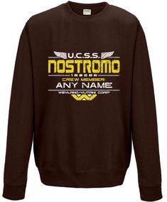 Customisable Nostromo Crew Sweatshirt - Dark Chocolate / Large