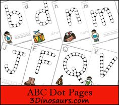ABC Dot Marker Upper & Lower Case  2 types for each - 3Dinosaurs.com