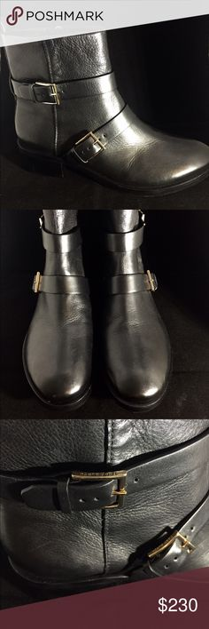 """Tory Burch Riley moto boot 1 1/2"""" heel (size 8.5). 5 3/4"""" shaft. Side zip closure. Leather upper, lining and sole. By Tory Burch; made in Brazil. *brand new only tried on inside house* Tory Burch Shoes Ankle Boots & Booties"""