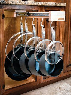 Kitchen idea #WhatsHanging #PotsAndPans #UBHOMETEAM