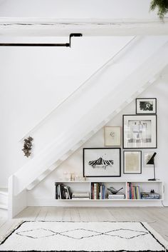 Good use of space under the stairs