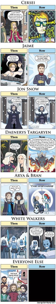 Game of Thrones Characters: Then vs. Now