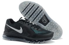 Nike Air Max 2014 Black Aqua Women's Running Shoes