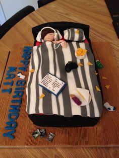 Messy bedroom cake!
