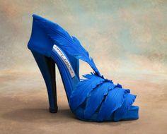 plumas azules