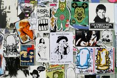 street stickers... gotta love the one with the Hoff!