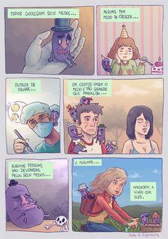 Medofobia #medo #tirinha #quadrinho