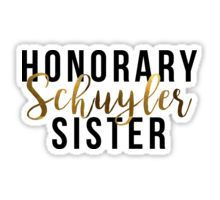 'Honorary Schuyler Sister (Gold Foil)' Sticker by Riley Powers Laptop Stickers, Cute Stickers, Notebook Stickers, Scrapbook Stickers, Earn Money From Home, Way To Make Money, Overlays, Hamilton Quotes, Hamilton Fanart