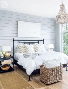 A charming rustic master bedroom {PHOTO: Robin Stubbert} #BeddingMasterBedroom