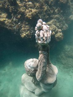 , Grenada Underwater Sculpture Park – A Modern Wonder , If I wasn't so scared of water, I'd love to see this up close: Grenada Underwater Sculpture - Nutmeg Princess. Underwater Sculpture, Underwater City, Underwater Photos, Underwater Photography, Nature Photography, Film Photography, Street Photography, Landscape Photography, Fashion Photography