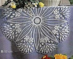 Diameter of Doily A is 63cm     Diameter of Doily B is 52cm   Simple & Beautiful Large Doilies Using Cotton Yarns