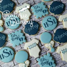 Oh boy! Classic baby boy shower decorated sugar cookies in navy and baby blue Oh boy! Classic baby boy shower decorated sugar cookies in navy and baby blue Baby Girl Shower Themes, Baby Shower Decorations For Boys, Baby Boy Shower, Baby Shower Cupcakes, Baby Shower Favors, Baby Boy Cookies, Navy Baby Showers, Baby Shower Pictures, Baby Shower Photo Booth