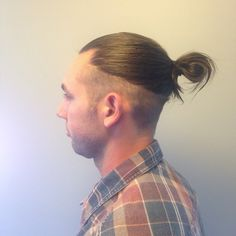 Undercut,man bun #hairbytoriebliss