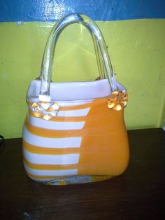 Hand Blown Art Glass Purse