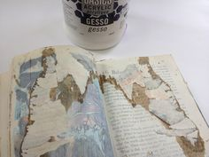 michelle turbide....preparing an old book for art journaling