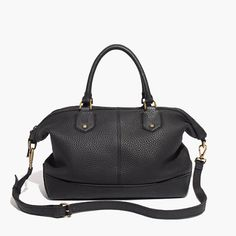 "With its structured but slouchy shape and rich textured leather, this go-anywhere satchel is both polished and effortlessly cool. Sling the top handles in the crook of your arm or slip on the detachable shoulder strap. Any way you carry it, this one is a winner (and will be for a long time to come).  <ul><li>Leather.</li><li>Zip closure.</li><li>Interior zip pocket.</li><li>17 3/4"" shoulder strap.</li><li>4 2/3"" handle drop.</li><li>10 7/16""H x 11 13/16""W x 5 1/8""D.</li><li>Import.</li></ul>"