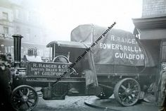 - Steam Lorry Accident , Guildford , Surrey - photograph in Collectables, Postcards, Transportation Surrey, Postcards, Trains, Boats, Transportation, Engineering, Old Things, Photograph, British