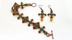 bugle bead bracelets patterns - YouTube