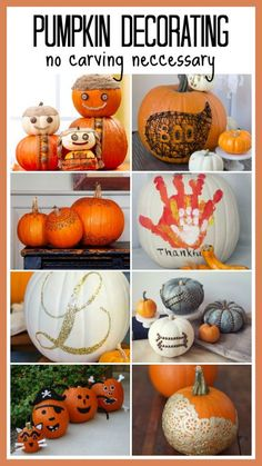 No Carving Pumpkin Ideas! Creative and fun list of ideas that will make your pumpkin the hit of the neighborhood! Featured on Design Dazzle