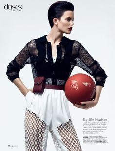 """Stylish Sports"" Vogue Turkey Feb 2013"