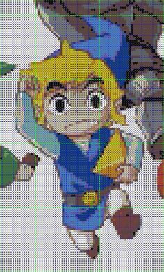 Toon Link Perler Pattern by Fallenherosrevive on deviantART Hehehe, cute!