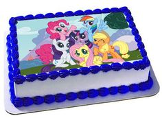 My Little Pony Edible Cake Topper, Frosting Sheet, My Little Pony Birthday, Cupcake Topper,Edible Images by Trendytreathouse on Etsy https://www.etsy.com/listing/264895932/my-little-pony-edible-cake-topper