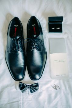 classic black groom shoes