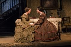 Mary Lou McCarthy and Karen McCartney in The Heiress by Ruth and Augustus Goetz, based on the novel Washington Square by Henry J Washington Square, Dublin City, Online Tickets, Staging, Theatre, Novels, Mary, Theater