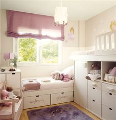 Beautiful (small sized) girls room (with 2 beds!)