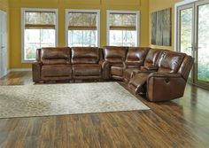 Jayron Contemporary Harness Power Reclining Sectional