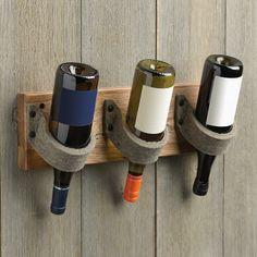 triple bottle felt wine rack from RedEnvelope.com