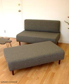 BOKZ  SOFA  SET - love seat and sofa bench   Mid Century Modern Design. $1,000.00, via Etsy.