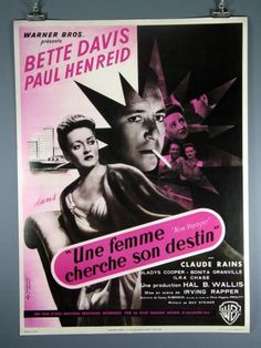 """Now Voyager"" Bette Davis Paul Henreid French Poster"