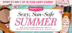 Be safe in the sun this Summer! Enter to win Too Faced's contest!!! #TooFacedSummer