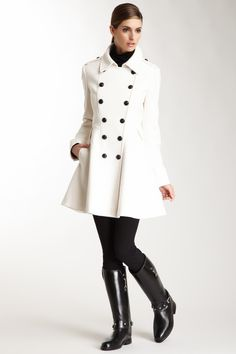 Double Breasted Wool Blend Coat by Via Spiga on @nordstrom_rack