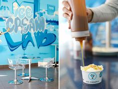 The Ice Cream Lab (opening Friday in LA!) switches up the ice cream experience. This new liquid nitrogen ice cream parlor that gives prefrozen scoops the cold shoulder. #IceCream #Retail #NewConcepts
