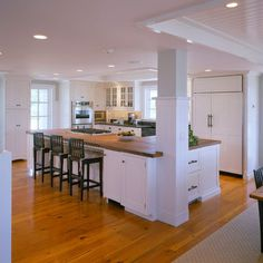 Kitchen Island With Columns incorporate a support post into kitchen island | kitchen remodel