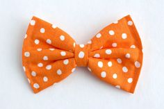 Boys Bow Tie Orange Polka Dot, Tennessee, Newborn, Baby, Child, Little Boy, Great for Special Occasion Wedding or Photo Prop by lollyludesigns on Etsy https://www.etsy.com/listing/175341786/boys-bow-tie-orange-polka-dot-tennessee
